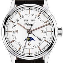 Habring² Jumping Second Calendar enamel dial rose gold appliques