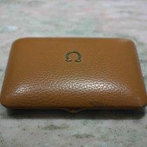 Omega vintage watch box light brown leather newoldstock