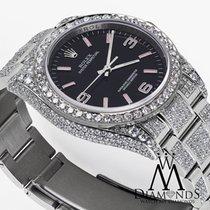 ロレックス (Rolex) Oyster Perpetual 36mm Black W/ Pink Custom Added...