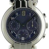 Harry Winston Premier Chronograph Platinum Watch W/ Sapphire Back