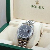 Rolex Steel 36mm Datejust Black Stick 116234 - UNWORN Box...