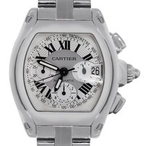 Cartier Roadster XL 2618 Stainless Steel Chronograph Dial Watch