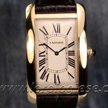 Cartier Tank Americaine Mechanique 18kt. Gold Watch Ref. 1735...