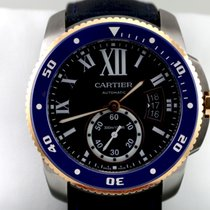 Cartier Calibre de Cartier Diver Blue, Rose Gold / Steel -...