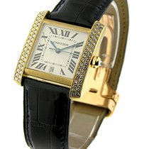 Cartier THYGdnms Large Size - Tank Francaise with Diamond...