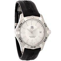 TAG Heuer Aquaracer Black Rubber Swiss Quartz Watch WAP1111.FT...
