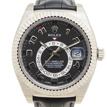 勞力士 (Rolex) Sky-dweller 18k White Gold Black Automatic 326139