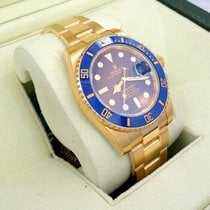 Rolex Submariner 116618 Lb 18k Yellow Gold Blue Ceramic Bezel...