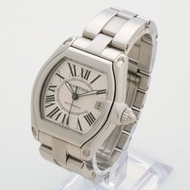 Cartier Roadster ref 2510 white dial W62025V3 with box
