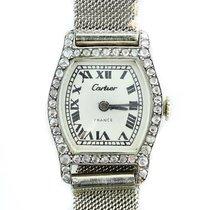 Cartier Vintage Cartier Ladies Diamond Tortue Platinum On Gay...