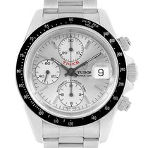 Tudor Tiger Woods Prince Chrono Silver Dial Watch 79260 Box...