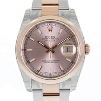 Rolex DATEJUST 36mm Steel & 18K Rose Gold Pink Index Dial
