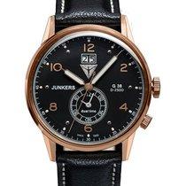 Junkers G38 Quartz Watch Big Date 2nd Time Zone Rose Gold Case...