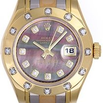 Rolex Masterpiece/Pearlmaster 18k Tridor Ladies Watch 80318