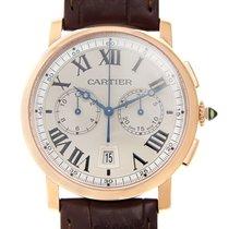 Cartier Rotonde De Cartier 18k Rose Gold Silver Automatic...