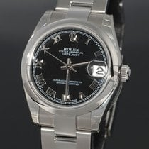 Rolex DATEJUST BLACK DIAL MIDSIZE