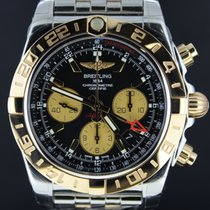 Breitling Chronomat 44MM GMT, Gold/Steel Black Dial Full Set