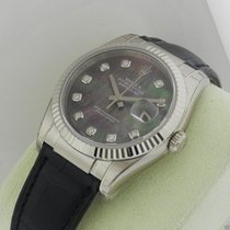 Rolex Datejust 116139 Datejust 18k White Gold Diamond MOP Dial...