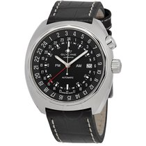 Glycine Airman SST GMT Automatic Black Dial Men's Watch