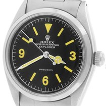 Rolex Oyster Perpetual Explorer Precision 5500 Black 34mm Watch
