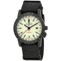 Glycine Airman Base 22 GMT Green Dial Men's Watch