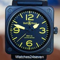 Bell & Ross BR01-92 Aviation Base LTD PVD & Yellow 46mm.