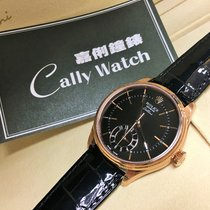Rolex Cally - 50525 CELLINI DUAL TIME Everose Gold Black