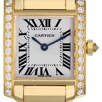 Cartier Tank Francaise 18k Yellow Gold & Diamonds Ladies...