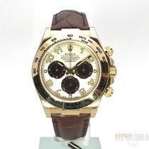 Rolex Cosmograph Daytona 18 kt Gelbgold / Leder 116518