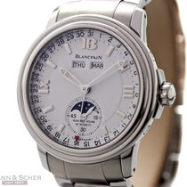 Blancpain Leman Day Date Mondphase Ref-2763 Stainless Steel...