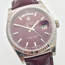 Rolex Day-Date Cherry 36mm 18K Weissgold Whitegold
