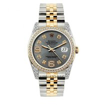 Rolex Datejust Men's 36mm Gray Dial Gold And Stainless...