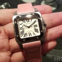 Cartier W20126X8 Santos 100 Watch 36mm
