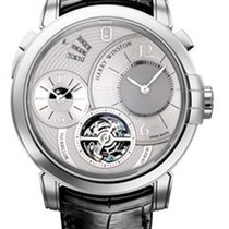 Harry Winston Midnight GMT Tourbillon 18K White Gold Men's...