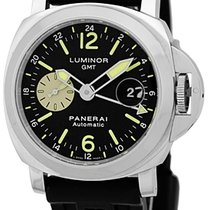 """Panerai Gent's Stainless Steel 44mm  """"Luminor GMT""""..."""