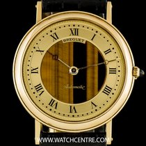 Breguet 18k Yellow Gold Champagne Tigers Eye Dial Classique Gents