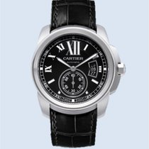 Cartier Calibre de Cartier Stahl Leder schwarz -NEU-
