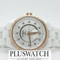 Chanel J12 H4359 White Ceramic and Diamond