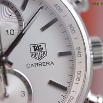 TAG Heuer Carrera Calibre 1887 Steel on Steel Bracelet Silver...
