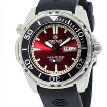 Deep Blue Sea Quest Diver 1000 Day/date Diving Watch Red Dial...