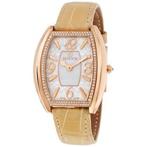 Milus Cirina White Dial 18kt Pink Gold Diamond Ladies Watch...