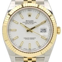 Rolex Datejust 41 126333-WHTSJ White Index Yellow Gold...