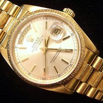 Rolex 18k Gold Day-date President Silver 18078