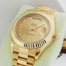 Rolex Day-Date II President  41mm 218238 Champagne Roman Dial