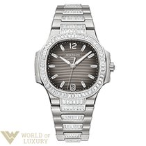 Patek Philippe Nautilus 18K White Gold Ladies Watch with Bracelet