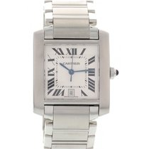 Cartier Large Cartier Tank Francaise Stainless Steel Automatic...
