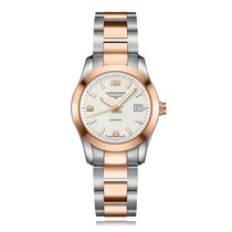 Longines Conquest Classic Automatic Steel & Rose Gold...