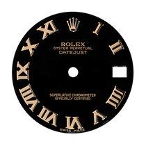Rolex DateJust 31mm Black/Gold Roman Numeral Original Factory...