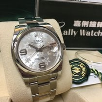 Rolex Cally - 116200 36mm Datejust Silver Flower Dial [NEW]