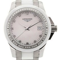 Longines Conquest 35 White Diamonds